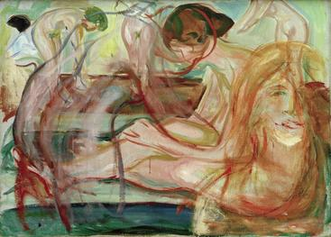 爱德华·蒙克《沐浴》Bathing Edvard Munch__W1201048GPN