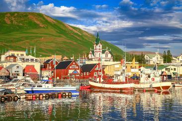 冰岛 胡萨维克镇 Husavik Town Iceland