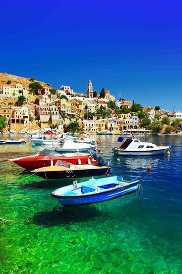 希腊 西米岛 Symi Island Greece