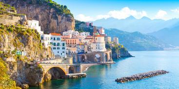 意大利 阿马尔菲城市景观 Amalfi Cityscape Italy