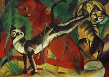 弗朗茨·马克《三只猫》Three cats Franz Marc__W1202005GPN