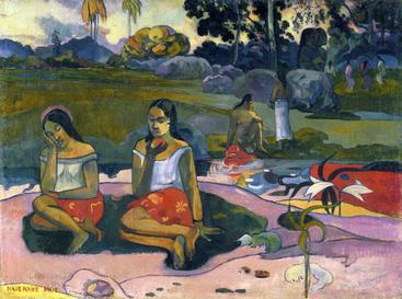 高更《野餐》The picnic Gauguin__W1201047GPN