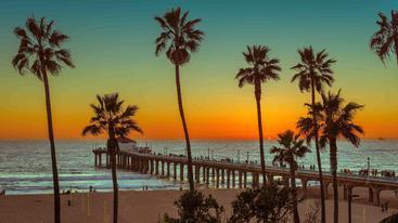 美国 洛杉矶 曼哈顿海滩 Manhattan Beach Los Angeles USA