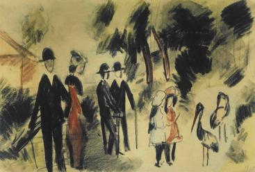 马克《人们与苍鹭》Poeple and Herons Macke__W1201030GPN