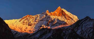 喜马拉雅山 鱼尾峰 Machhapuchhre Himalaya Mountains