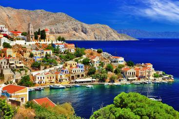 希腊 西米岛 Symi Island Greece
