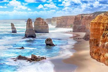 澳大利亚 十二使徒岩组 Group of twelve apostles Australia