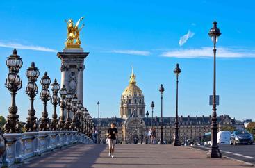 法国 巴黎 亚历山大三世桥 Pont Alexandre III Paris France