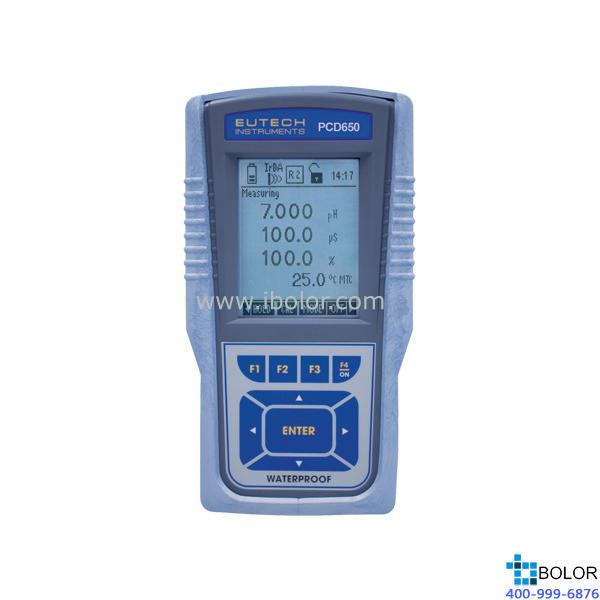 PCD 650便携式PH/ORP/离子/电导率/TDS/盐度/电阻率/溶解氧/温度测试仪