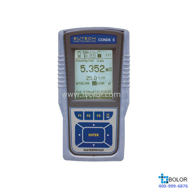 CON600便携式电导率/TDS/℃仪 500组数据 RS232,红外接口 标配四环电导电极