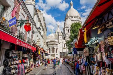 法国 巴黎 蒙马特大街 Montmartre Paris France