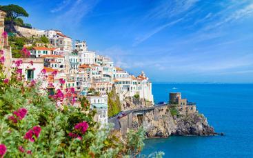 意大利 坎帕尼亚 阿马尔菲海岸 Amalfi coast Gulf of Salerno Campania Italy