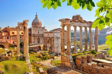 意大利 罗马废墟 Roman ruins in Rome Italy