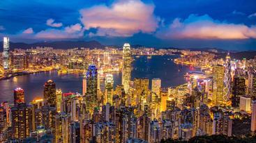 中国 香港 维多利亚港 Victoria Harbour Hong Kong China