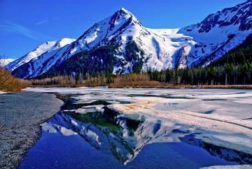 美国 阿拉斯加 雪山 Snow mountain Alaskan USA