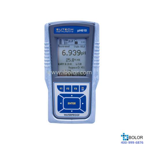 pH610便攜式pH/ORP/℃計 精度±0.002pH 500組數據 IrDA(紅外傳輸)