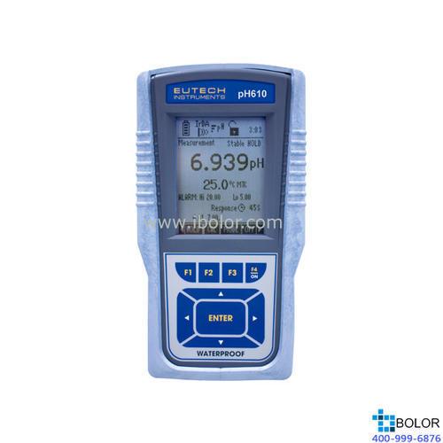 pH610便携式pH/ORP/℃计 精度±0.002pH 500组数据 IrDA(红外传输)