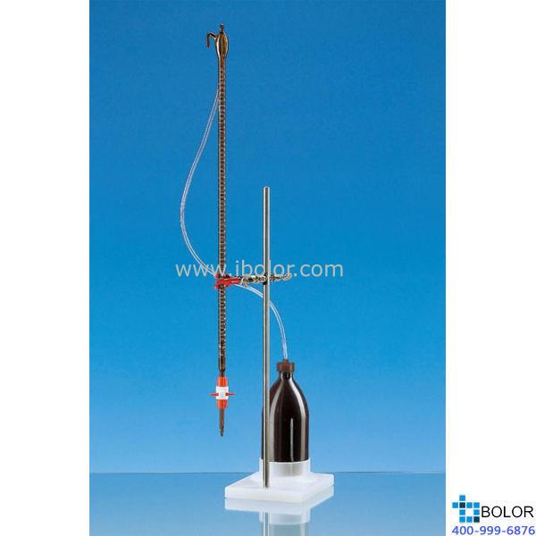 組裝式自動回零滴定管,SILBERBRAND,棕色玻璃,25 ml,附有1000 ml PE試劑瓶 23830