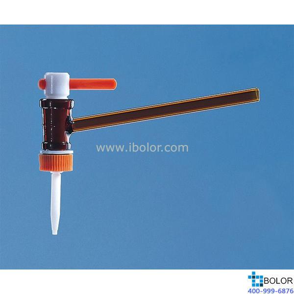 直滴型滴定閥,適用于50 ml滴定管,PTFE閥芯 81939