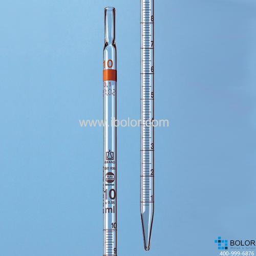 刻度移液管,BLAUBRAND? ETERNA, AS級,2類(標稱量程刻度位于頂端),0.5:0.01 ml 27836