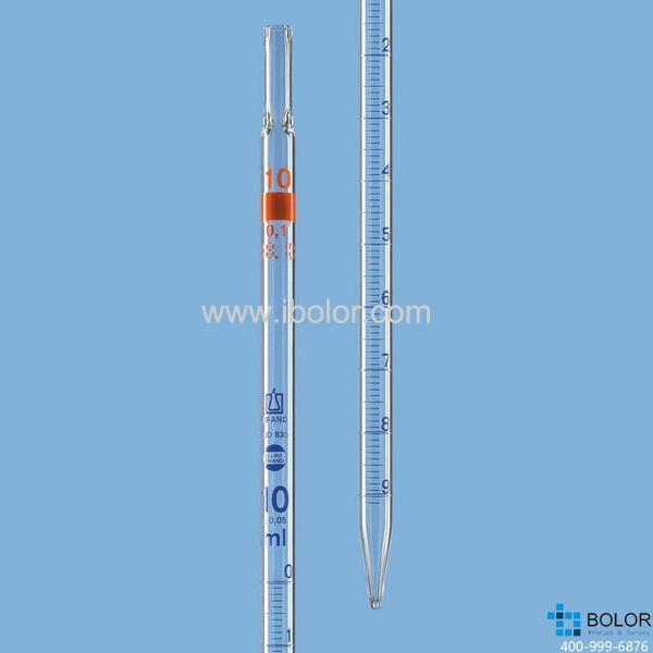 刻度移液管,BLAUBRAND®,AS级,3类(零刻度位于顶端),50:0.5 ml 27716
