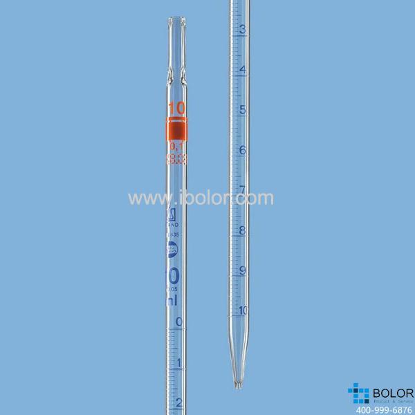 刻度移液管,BLAUBRAND®,AS级,1类(零刻度位于顶端),25:0.1 ml 27731