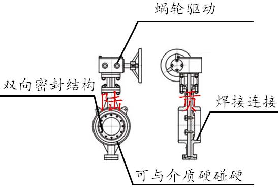 高压焊接蝶阀结构图