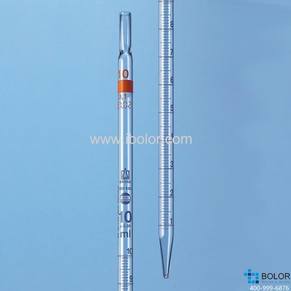 刻度移液管,BLAUBRAND®, AS级,2类(标称量程刻度位于顶端),2:0.01 ml 27829