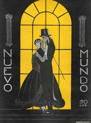 1920s Spain Nuevo Mundo embracing hugging art deco cc