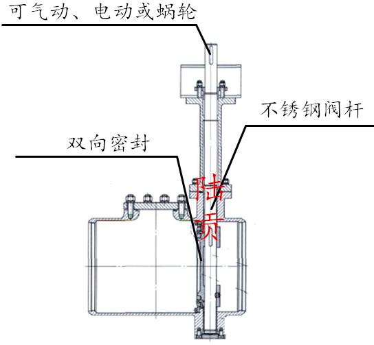 不锈钢低温蝶阀结构图