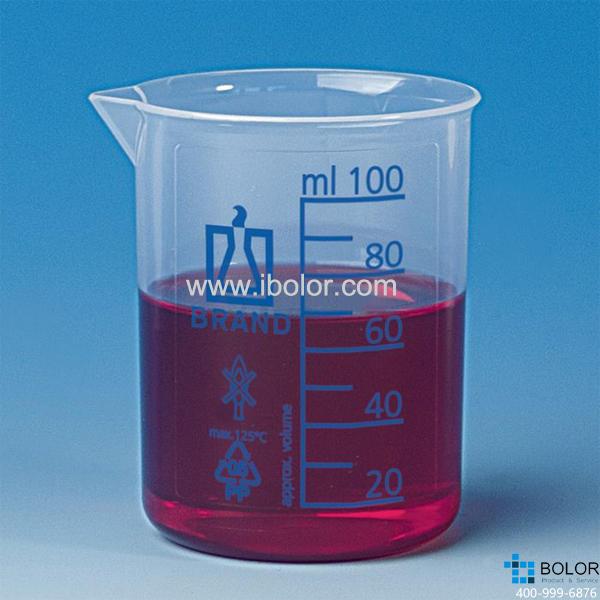烧杯,低型,PP材质,5000: 500 ml,蓝色刻度 87626