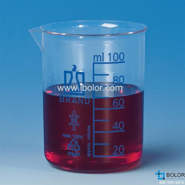 烧杯,低型,PMP材质,500: 50 ml,蓝色刻度 87516