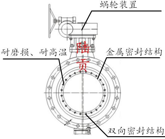金属硬密封蝶阀结构图