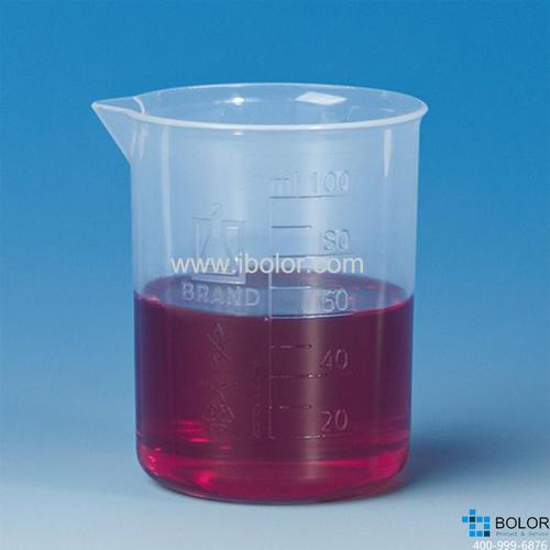 烧杯,低型,PP材质,5000: 500 ml,蚀刻刻度 87826
