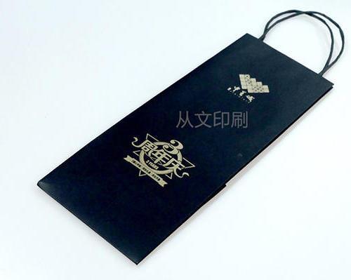 黑卡纸印金纸袋