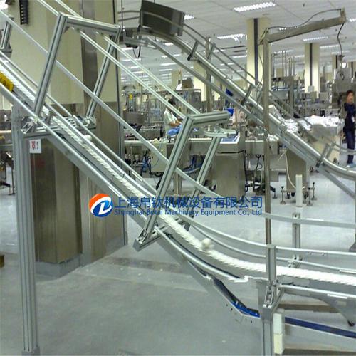 爬坡提升柔性输送流水线系统