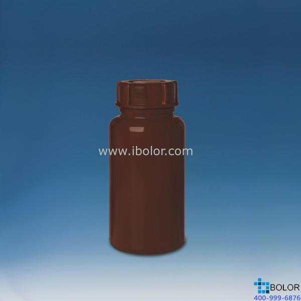 广口瓶,PE-LD材质,200 ml,GL 65,棕色不透明,旋盖 129764