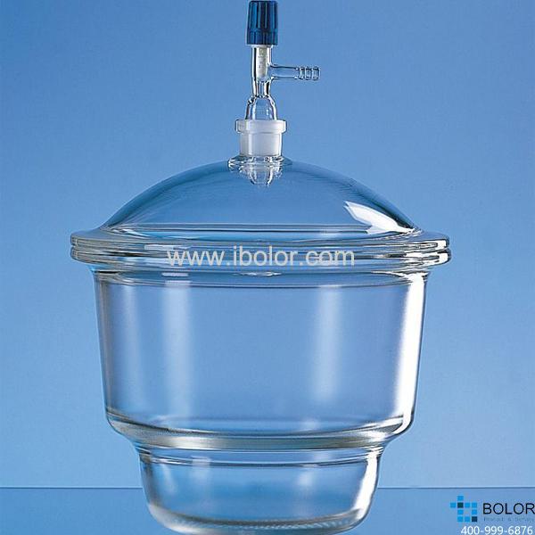 干燥器,蓋子帶接口,24/29,標稱規格,250 mm,直徑320 mm,Boro 3.3 65243