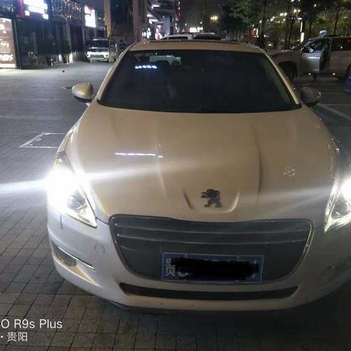 贵阳标志508车灯升级海拉五双光透镜氙气大灯套装