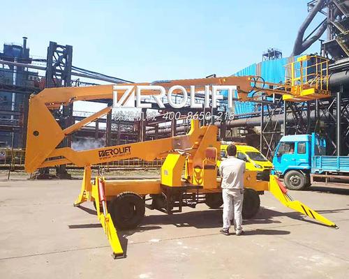 江苏省某钢铁集团有限公司支腿式曲臂投入使用