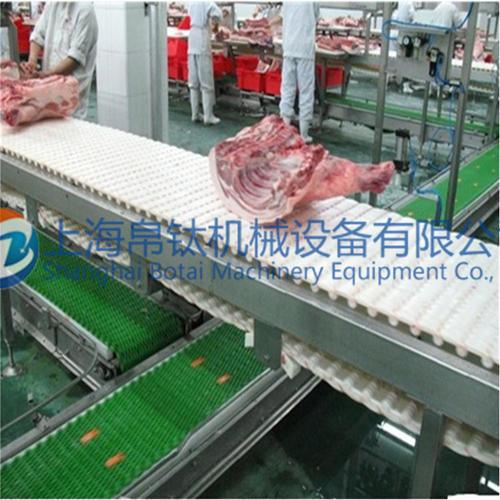 猪肉分拣网带输送机