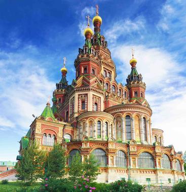 俄罗斯 圣彼得和保罗教堂 St. Peter and Paul Church Russia