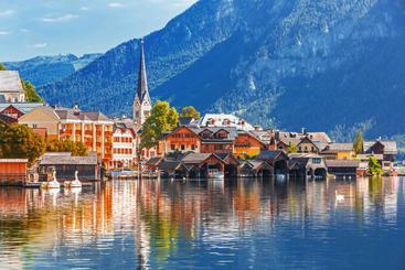 奥地利 哈尔施塔特湖 Hallstatt Lake Austria