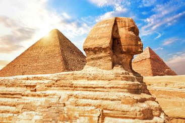 埃及 金字塔狮身人面像  Great Sphinx Pyramid Egypt