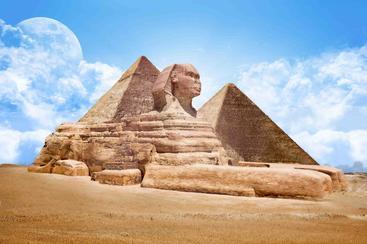 埃及 金字塔狮身人面像  Great Sphinx Pyramid Egypt