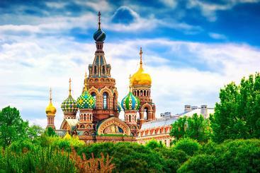 俄罗斯 圣彼得堡 基督复活教堂 Храм Воскресения Христова на Крови Russia
