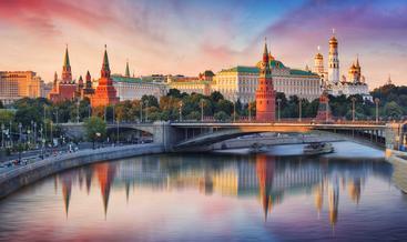 俄罗斯 克里姆林宫和莫斯科河 Kremlin and Moskva River Russia