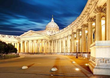 俄罗斯 圣彼得堡 喀山大教堂 Kazan cathedral Saint Petersburg Russia