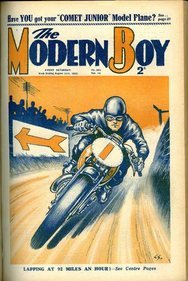 1930s UK The Modern Boy Magazine Cover