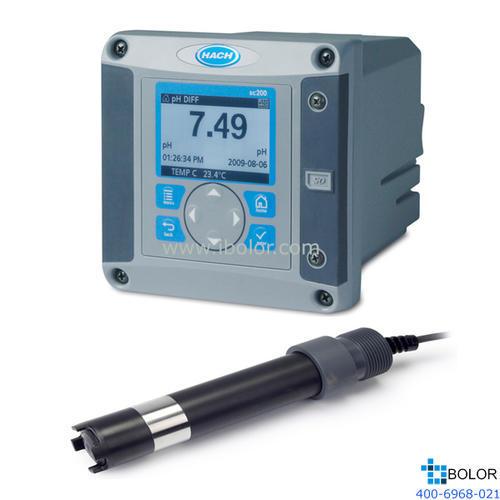 SC200+GLI极谱法在线溶氧分析仪;溶解氧量程(mg/L):0-20;继电器数量:4; HACH/哈希